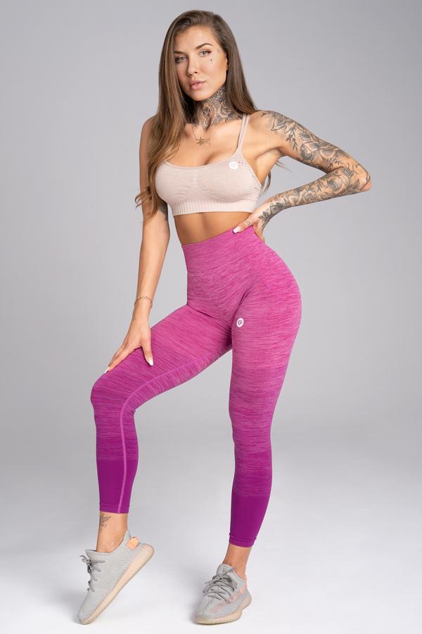 Gym Glamour Legíny Bezešvé Pink Ombré - M, M - 2