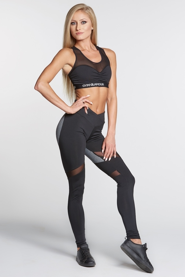 Gym Glamour Legíny Black And Grey Heart - S, S - 2