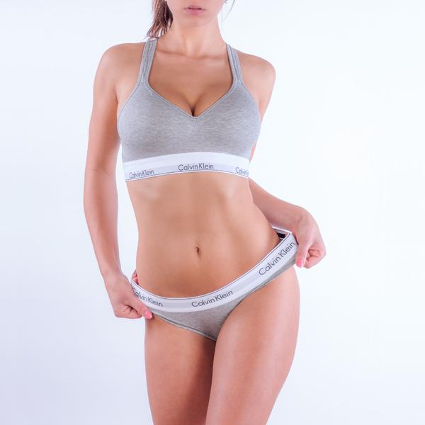 Calvin Klein Podprsenka Bralette Lift Grey - M, M - 2