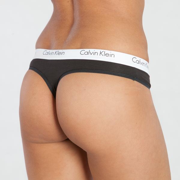 Calvin Klein Tanga CK One Černé - XS, XS - 2
