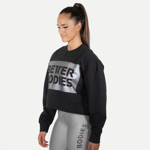 Better Bodies Mikina Chelsea Sweater Washed Black - L, L - 2