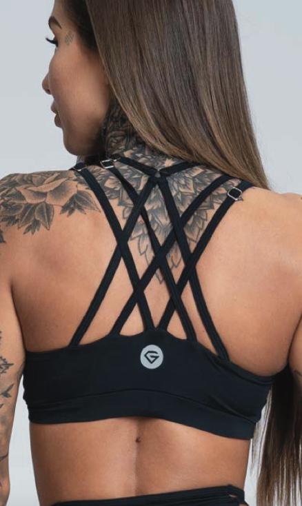 Gym Glamour Podprsenka String Black - XS, XS - 2