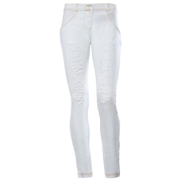 Freddy Jeans Bílé Potrhané Snížený Pas - L, L - 2