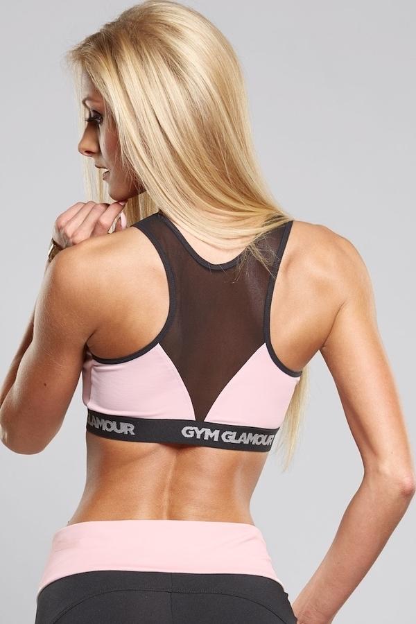 Gym Glamour Podprsenka Pink Zipped - XS, XS - 2