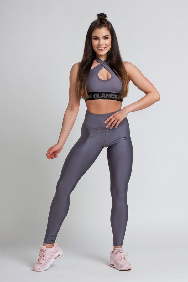 Gym Glamour Legíny High Waist Granite - M, M - 2