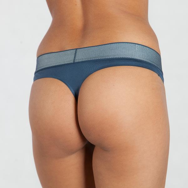 Calvin Klein Tanga Customized Stretch Blue - L, L - 2