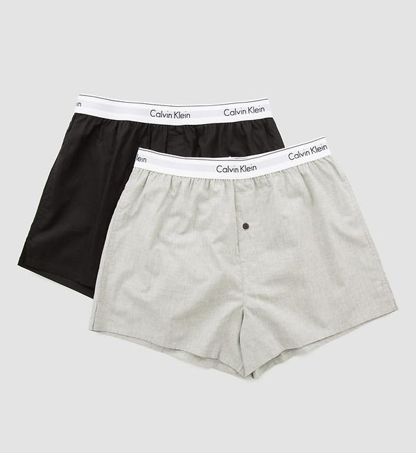 Calvin Klein 2Pack Trenky Black&Grey - M, M - 2