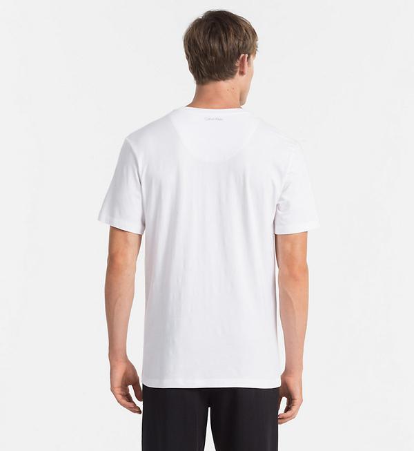 Calvin Klein Pánské Tričko S Nápisem Bílé - S, S - 2