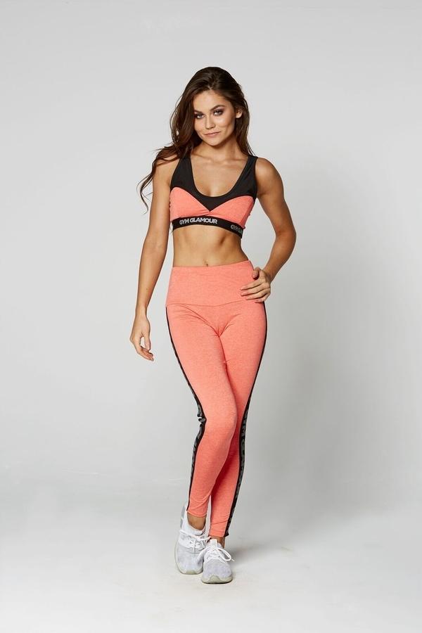 Gym Glamour Legíny High Waist Orange - L, L - 2