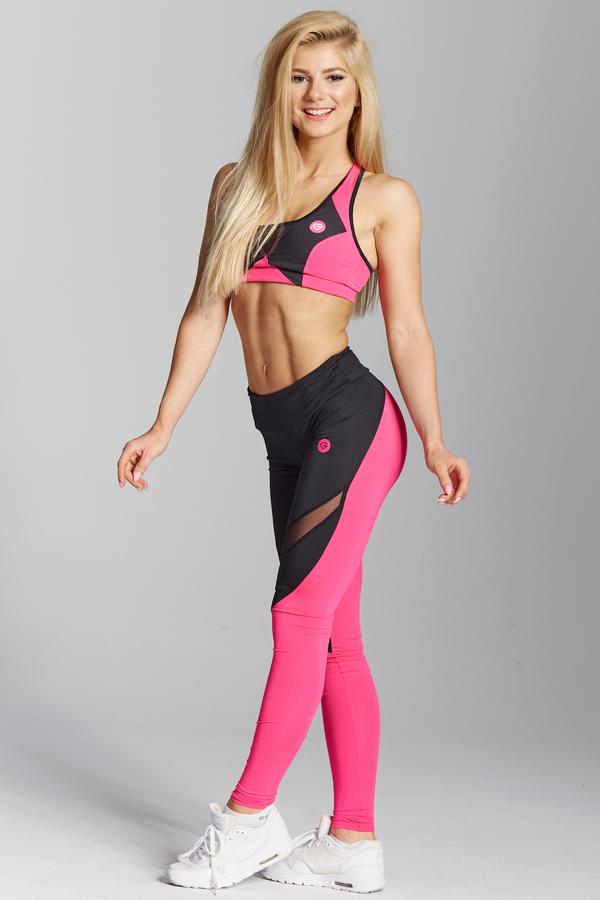 Gym Glamour Legíny Pink Fluo - XS, XS - 2