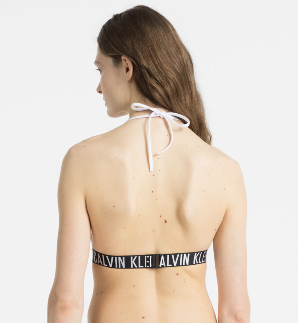 Calvin Klein Plavky Fixed Triangle Bílé Vrchní Díl - M, M - 2