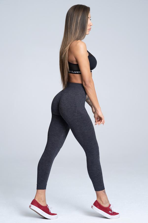 Gym Glamour Legíny Bezešvé Grey Melange - S, S - 2