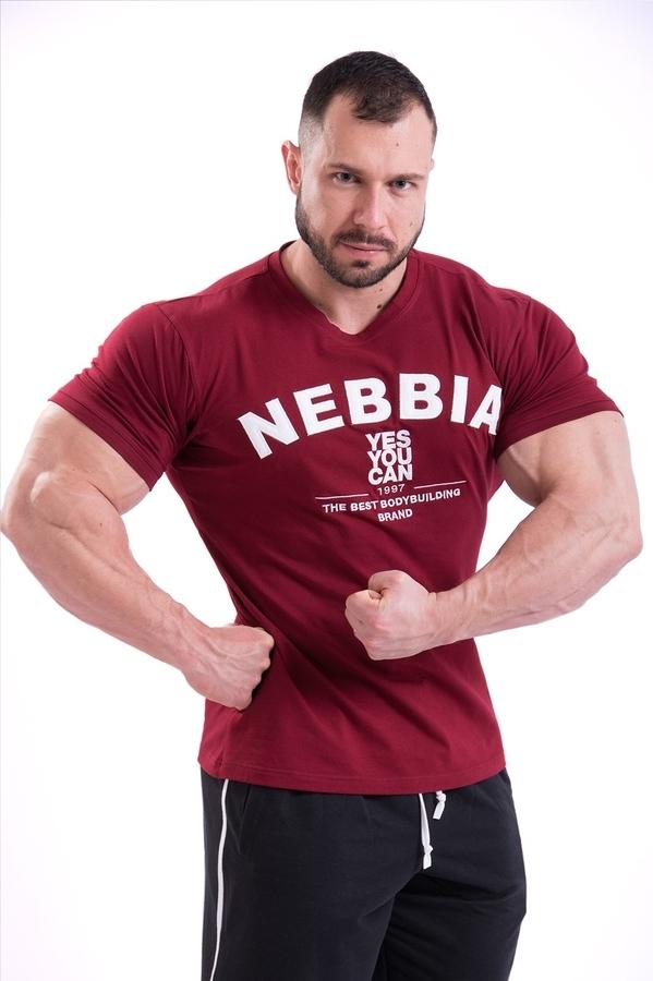 Nebbia Tričko 396 Pánské Hardcore Červené - M, M - 2
