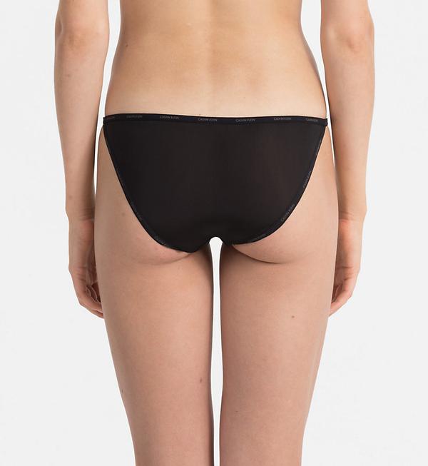 Calvin Klein Kalhotky Sheer Marquisette Black - S, S - 2