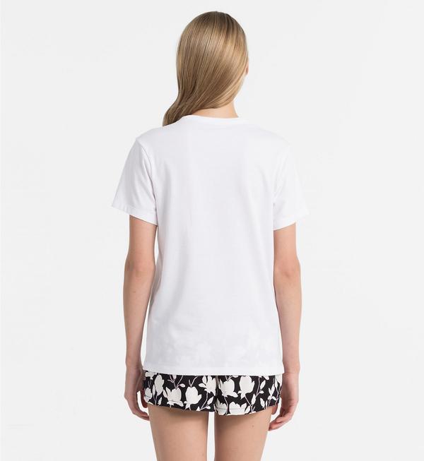 Calvin Klein Logo Dámské Tričko Bílé - L, L - 2