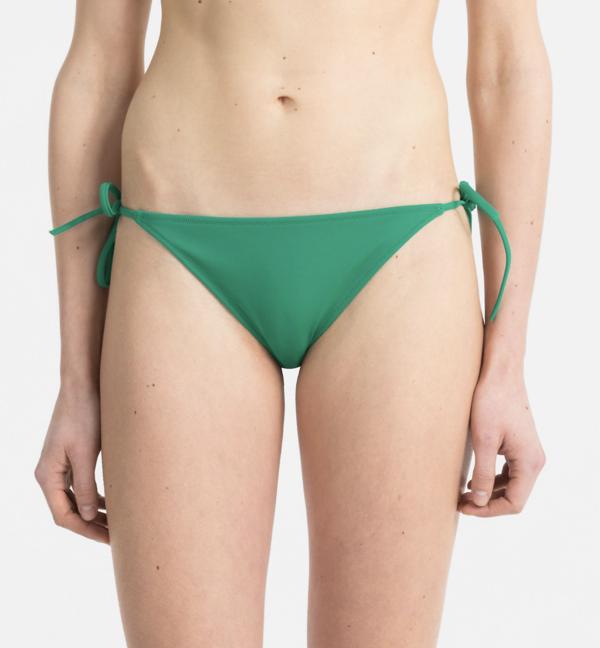 Calvin Klein Plavky Cheeky String Side Zelené Spodní Díl - L, L - 2