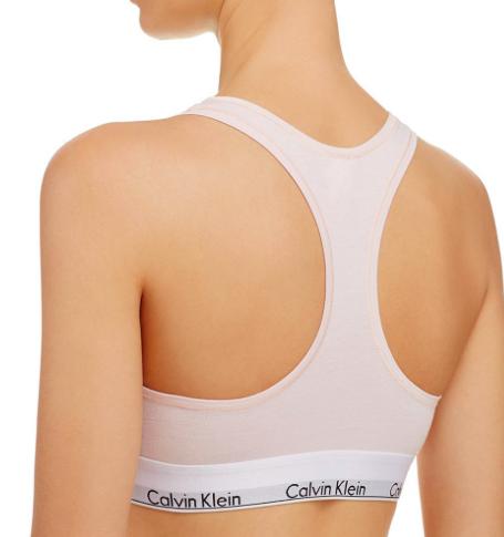 Calvin Klein Podprsenka Bralette Unlined Světle Růžová - XS, XS - 2