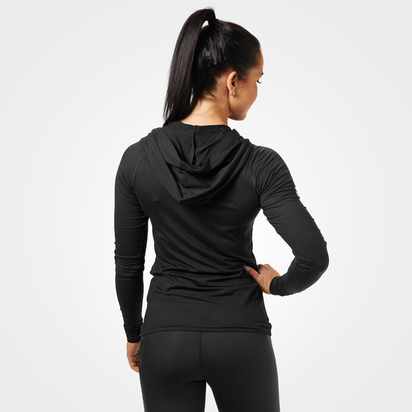 Better Bodies T-shirt Performance Long Sleeve Hood Black - 2