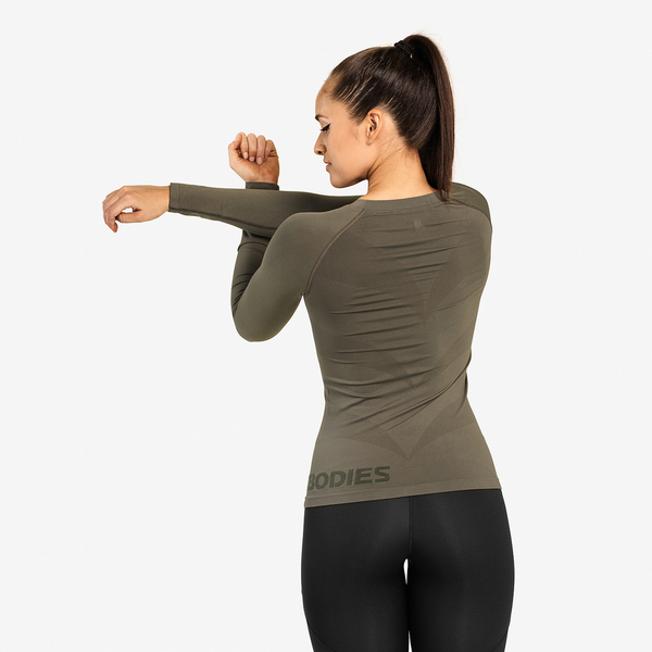 Better Bodies Tričko Nolita Seamless Long Sleeve Washed Green - XS, XS - 2