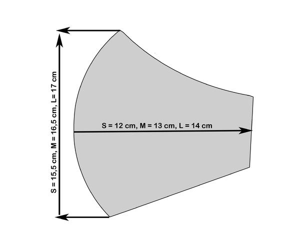 Rouška S Aloe Vera - světle šedá - M, M - 2