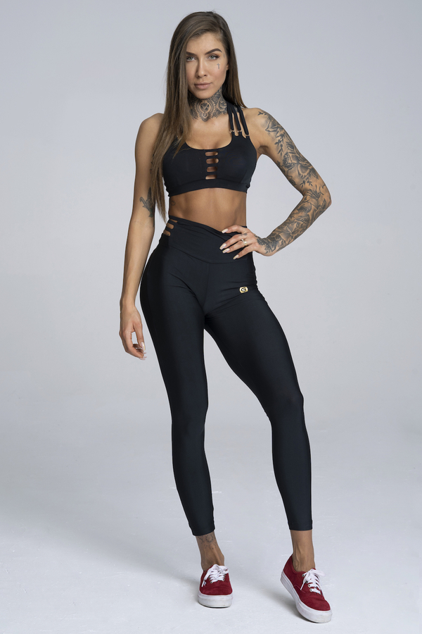 Gym Glamour Leggings String Waist Black - 2