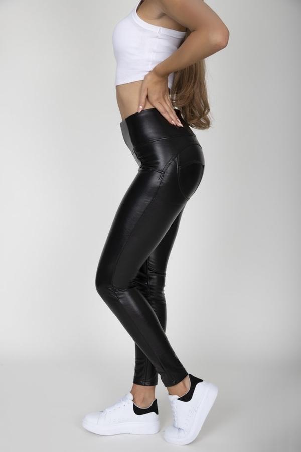 Hugz Black Faux Leather High Waist - M, M - 2