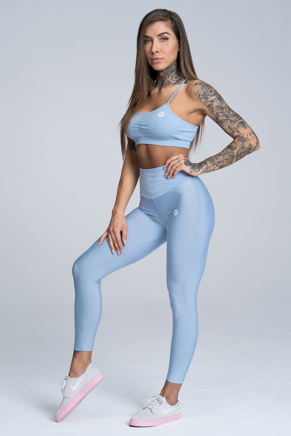 Gym Glamour Legíny High Waist Dream Blue - M, M - 2