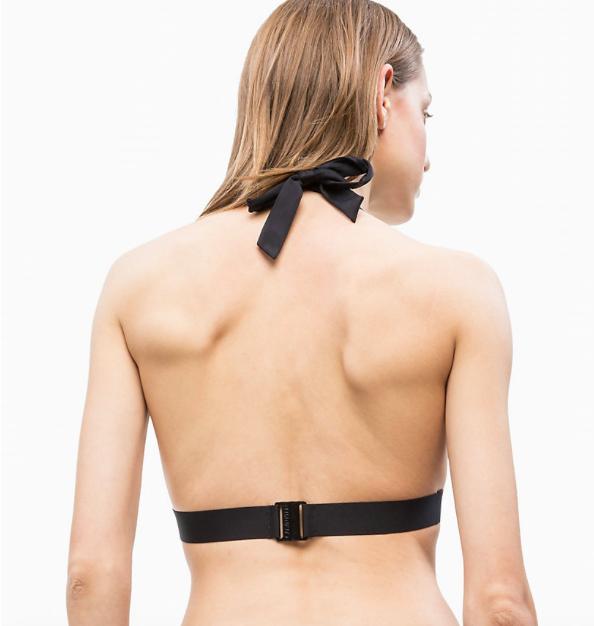 Calvin Klein Plavky Core Icon Triangle Black Vrchní Díl - 2