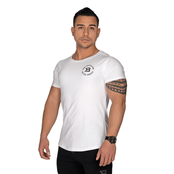 Better Bodies T-shirt Wide Neck Tee White - 2