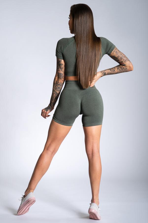 Gym Glamour Shorts Khaki Ombre - 2