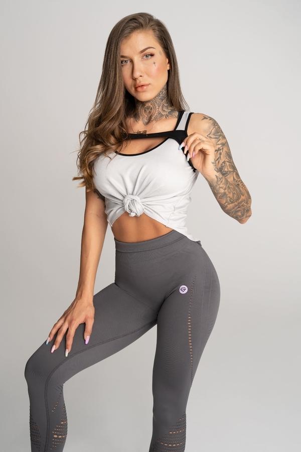 Gym Glamour Tílko Deynn Šedé - XS, XS - 2