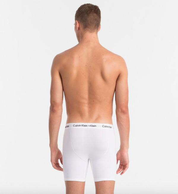 Calvin Klein 3Pack Boxerky Dlouhé Bílé - M, M - 2