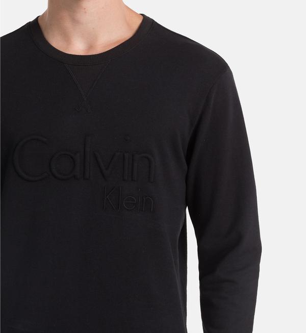 Calvin Klein Mikina Černá S Nápisem - 3