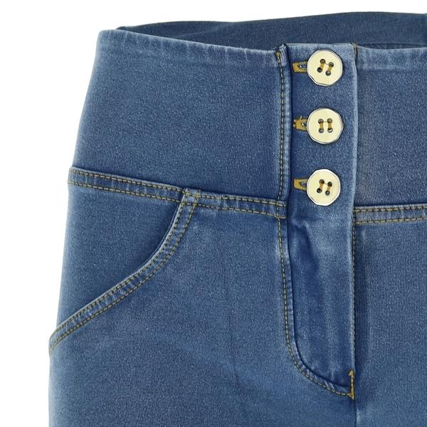 Freddy Jeans Světle Modré Zvýšený Pas SS19 - 3