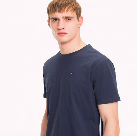 Tommy Hilfiger Tričko Organic Cotton Navy - 3