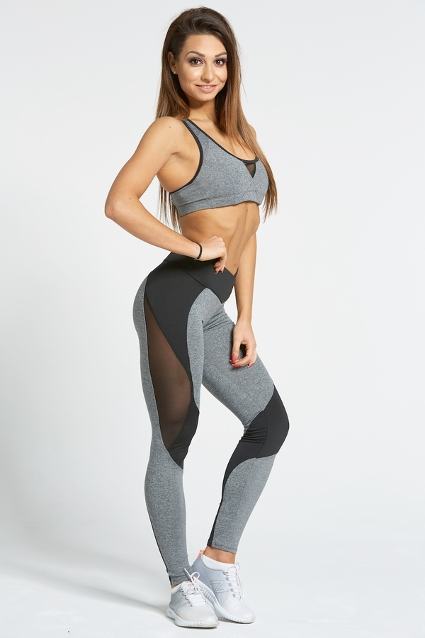 Gym Glamour Legíny Sexy Black And Grey - L, L - 3