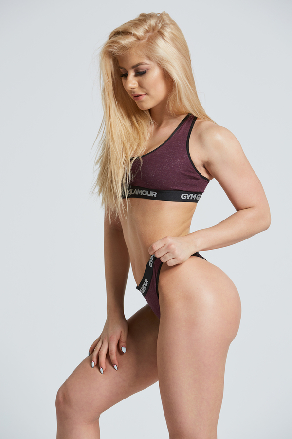 Gym Glamor Set Underwear Burgundy - 3