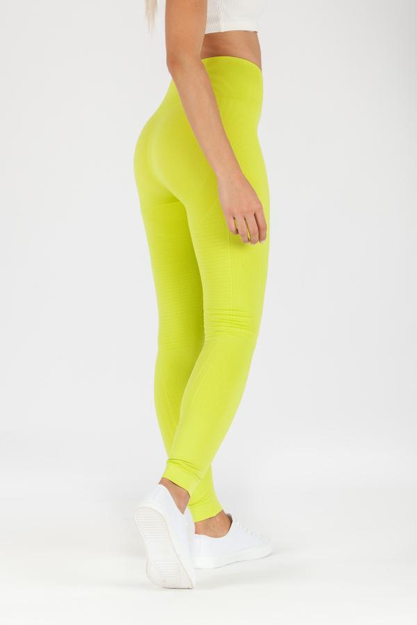 GoldBee Leggings BeSeamless Lime, XS - 3
