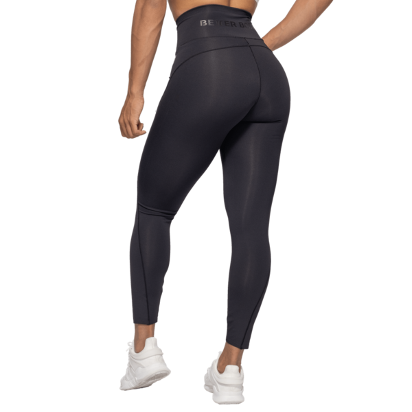 Better Bodies Legíny High Waist Black - XS, XS - 3