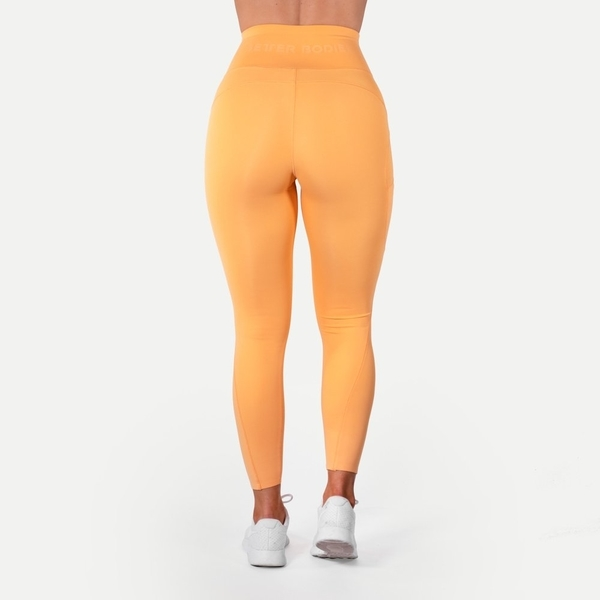 Better Bodies Legíny High Waist Light Orange - S, S - 3