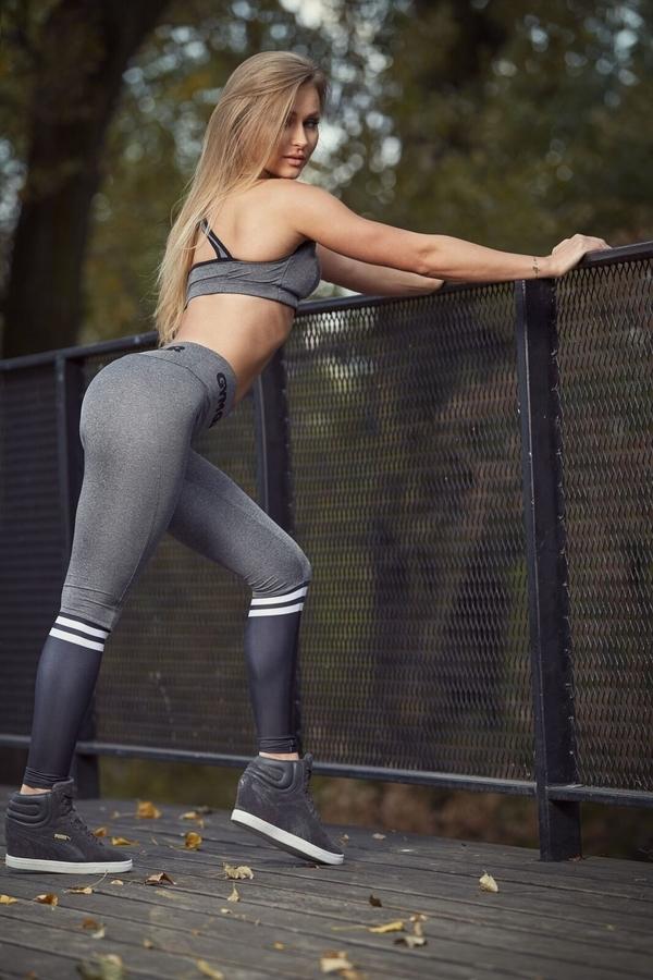 Gym Glamour Leggings Grey & Black Socks - 3