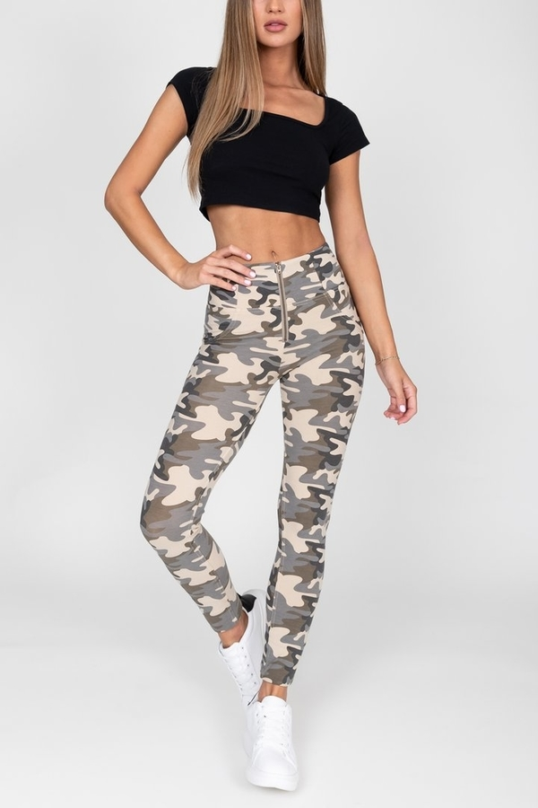 Hugz Camo Light High Waist Jegging - L, L - 3