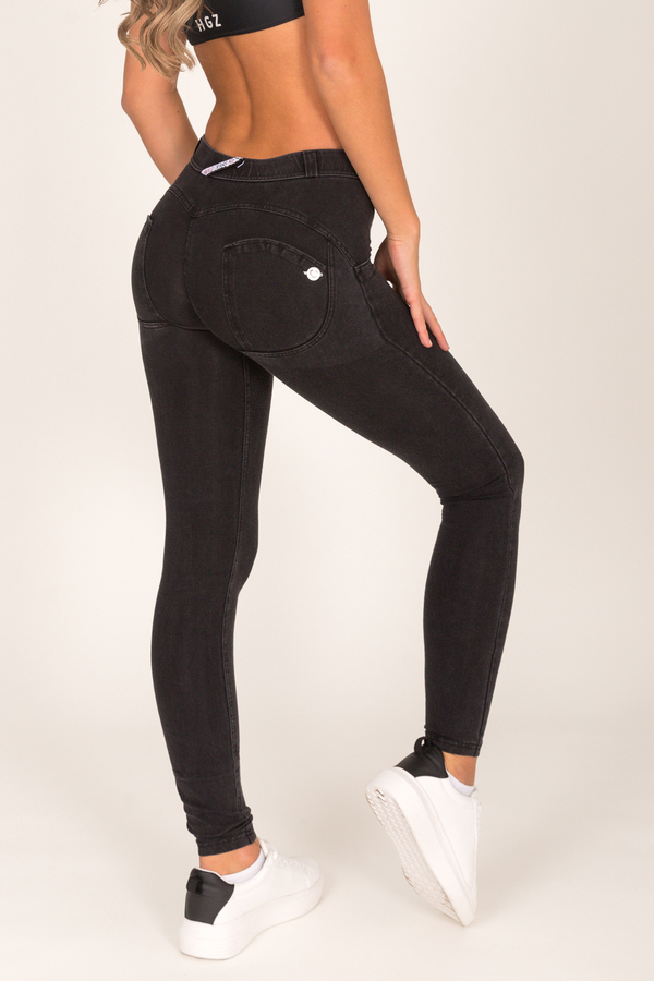 Hugz Black Low Waist Denim Black stitch - XL, XL - 3