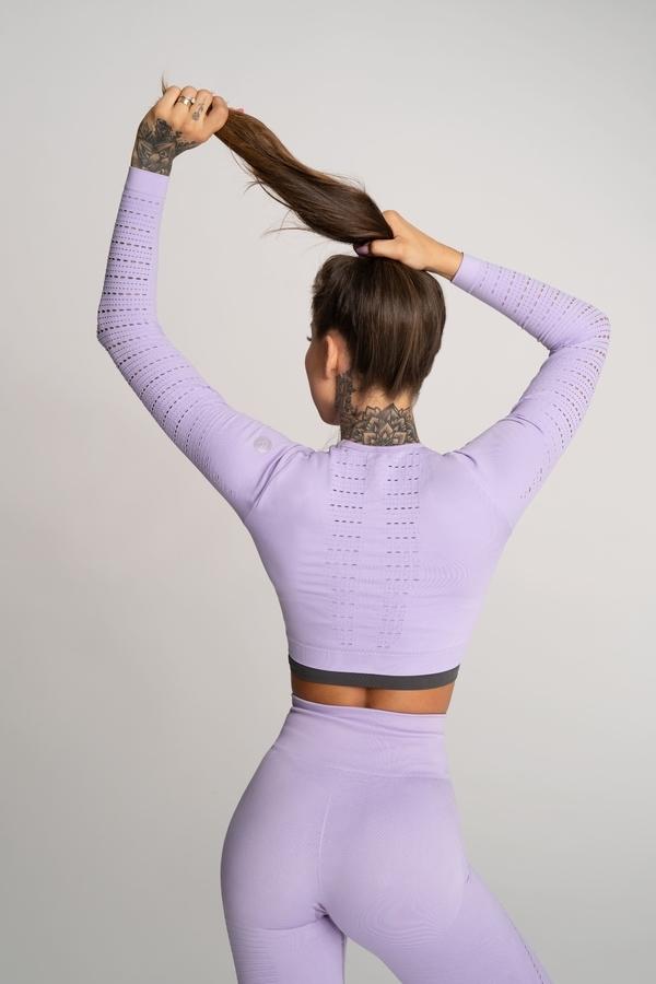 Gym Glamour Crop Top Deynn Lavender, M - 3