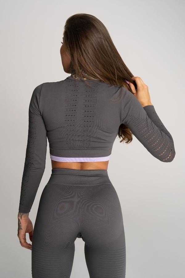 Gym Glamour Crop Top Deynn Grey, S - 3