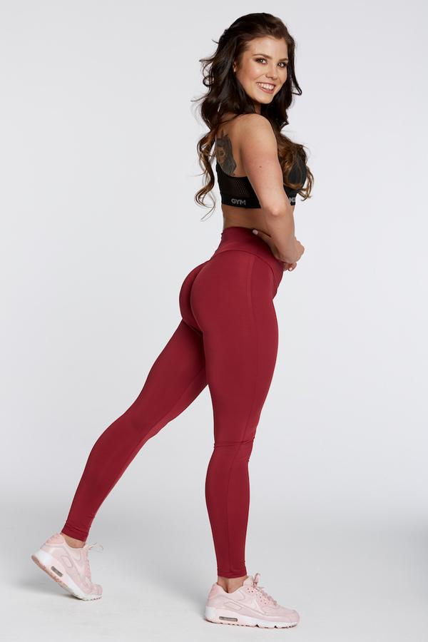 Gym Glamour Leggings High Waist Bordo, M - 3