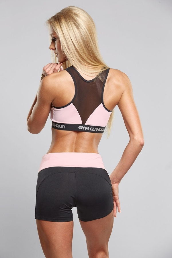 Gym Glamour Kraťásky Black & Pink - M, M - 3