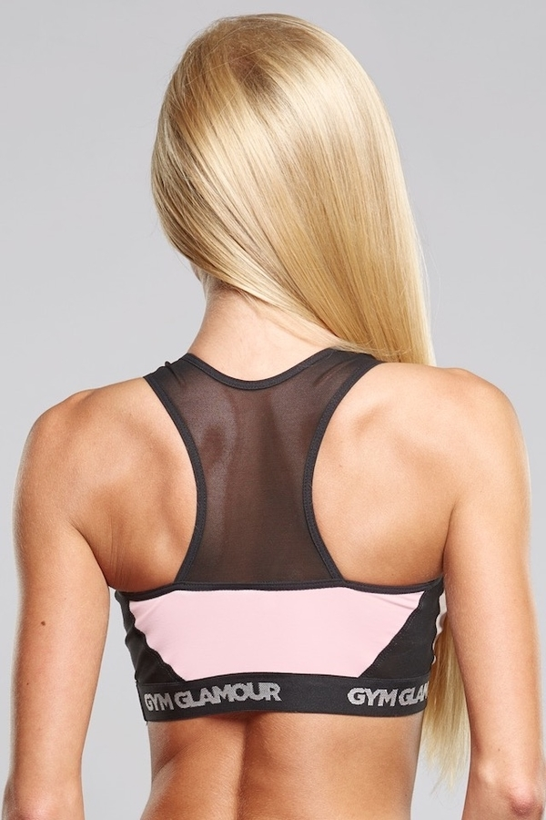 Gym Glamour Podprsenka Pink Mesh - M, M - 3
