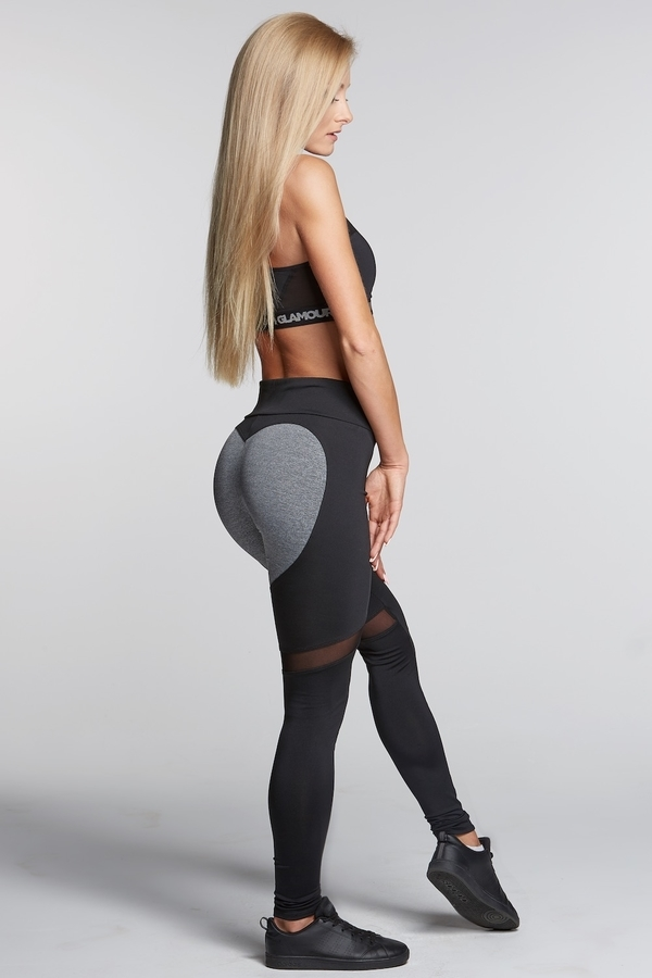 Gym Glamour Legíny Black And Grey Heart - S, S - 3