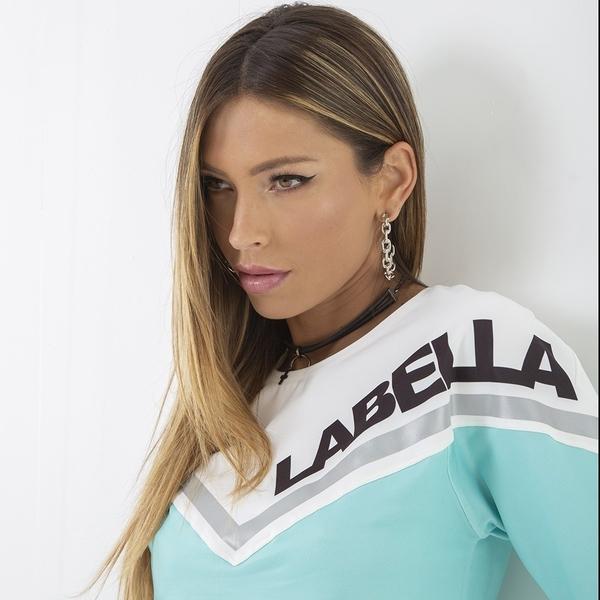 Labella Mikina Turquoise/White - M, M - 3